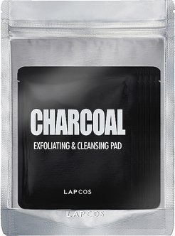 Charcoal Exfoliating & Cleansing Pad 5 Pack in Beauty: NA.
