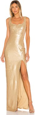 Mineo Gown in Metallic Gold. - size 6 (also in 0,4,8)