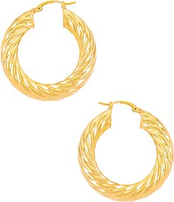 Gina Hoops in Metallic Gold.