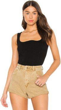 Structure Rib Tank in Black. - size L (also in XS,S,M)