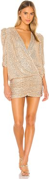 Sequin Mini Dress in Metallic Gold. - size S (also in M,XS)