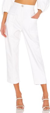 Supper Cotton Trousers in Ivory. - size S (also in M,XS)