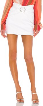 Supper Cotton Vintage Mini Skirt in Ivory. - size L (also in M,S)
