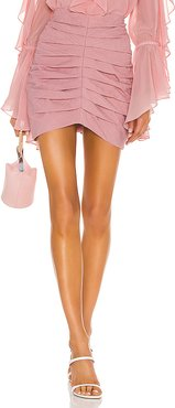 Laise Pleated Mini Skirt in Pink. - size M (also in S,XS)