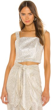 Metallic Cropped Top in Metallic Gold. - size XS (also in S)