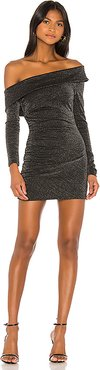 Londyn Mini Dress in Black,Metallic Silver. - size M (also in S)