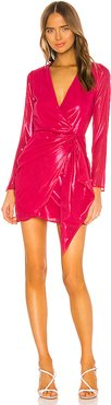Brigid Mini Dress in Fuchsia. - size S (also in XS,XXS)