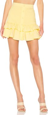 Beau Mini Skirt in Yellow. - size S (also in M,XL)