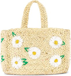 Daisy Mini Tote in Tan.