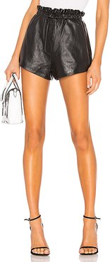 Nina Leather Shorts in Black. - size M (also in L)