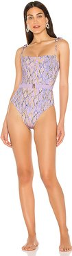 Lockhart Classic One Piece in Lavender. - size 6 (also in 10,4,8)