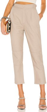 Lin Statement Trouser in Beige. - size M (also in S)