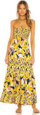Convertible Long Dress in Yellow. - size L (also in M)