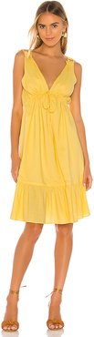 Esther Midi Dress in Yellow. - size L (also in M,S,XL,XS,XXS)