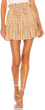 Charlie Mini Skirt in Yellow. - size L (also in M,S,XS,XXS)