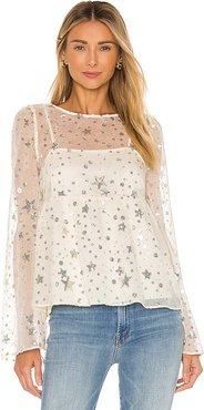 Starry Night Top in Cream. - size XXS (also in XS)