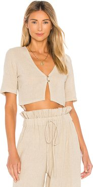 Zaylee Top in Beige. - size XS (also in L,M,S,XL,XXS)