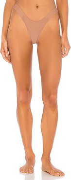 The High Noon Bikini Bottom in Taupe. - size XS (also in S,M)