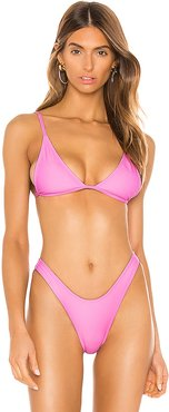 The Mirage Bikini Top in Pink. - size L (also in S,XS)