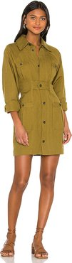 Ino Dress in Olive. - size 2 (also in 4,8)