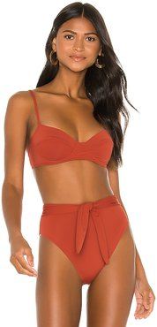 Lua Bikini Top in Brick. - size S (also in M,XS)