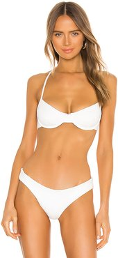 Mazlyn Bikini Top in White. - size XS (also in M,S)