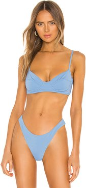 Lua Bikini Top in Blue. - size XS (also in L,M,S)