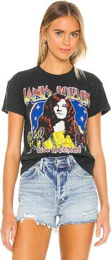Janis Joplin Live In Concert Tee in Black. - size M (also in S,XS)