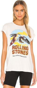Rolling Stones Tour Of The Americas '75 Tee in White. - size M (also in L,S,XS)