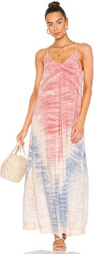 Haze Wash Maxi Dress in Pink. - size XS (also in L,M,S)