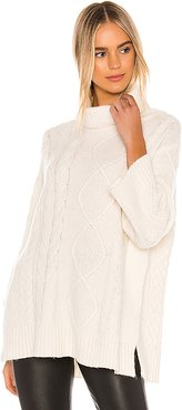 Lex Poncho in Ivory. - size L (also in M)