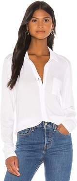 Harley Button Down in White. - size S (also in L,M,XS)
