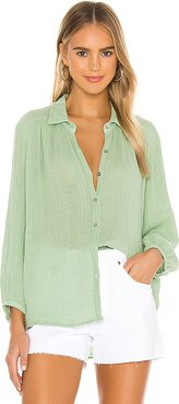 Carrie Button Down in Green. - size L (also in S,XS)