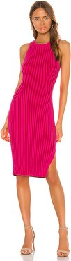 Rid Knee Length Dress in Pink. - size XL (also in L,M,S)