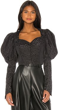 Shortened Bustier Blouse in Black. - size S (also in M)