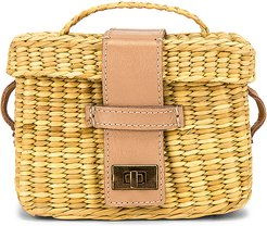 Roge Small Strap Bag in Tan.