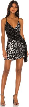 Davie Embellished Mini Dress in Black,Metallic Silver. - size M (also in S,XXS)