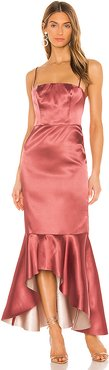Amorette Gown in Metallic Copper. - size L (also in XXS,XS,S,M,XL)