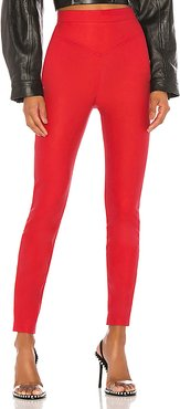Mandi Pant in Red. - size XS (also in XXS,S,M,L,XL)
