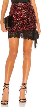 Kailani Mini Skirt in Red. - size XS (also in XXS,S)