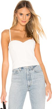 Sahara Sun Bustier Top in White. - size XL (also in S)