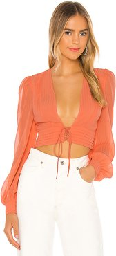 Laila Top in Coral. - size L (also in XL)