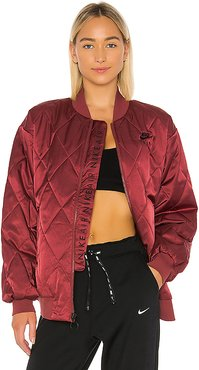 Satin Jacket in Red. - size S (also in XS)