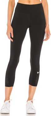 NK Epic Lux Crop Legging in Black. - size S (also in L,M,XS)
