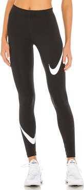 NSW Legasee Swoosh Legging in Black. - size XS (also in L,M,S)