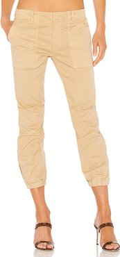 Cropped Military Pant in Tan. - size 4 (also in 0,2)