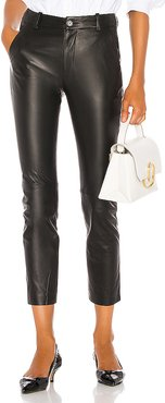 Montauk Leather Pant in Black. - size 8 (also in 0,2,4,6)