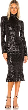 Sequin Fishtail Dress in Black. - size XS (also in S)