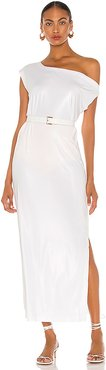 Drop Shoulder Gown in White. - size M (also in L,S,XS,XXS)