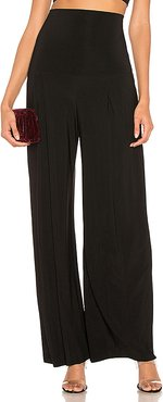 High Waist Pleat Pant in Black. - size XS (also in M,S)